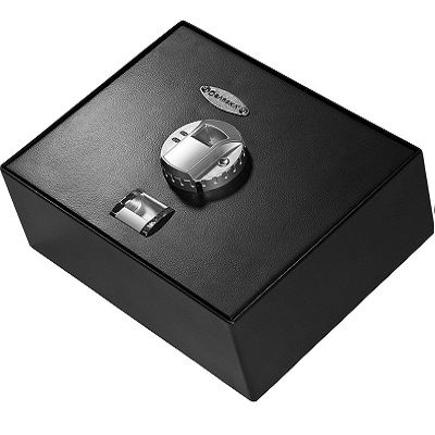 BARSKA Top Opening Biometric Fingerprint Safe - keeps important documents, jewelries and files securely