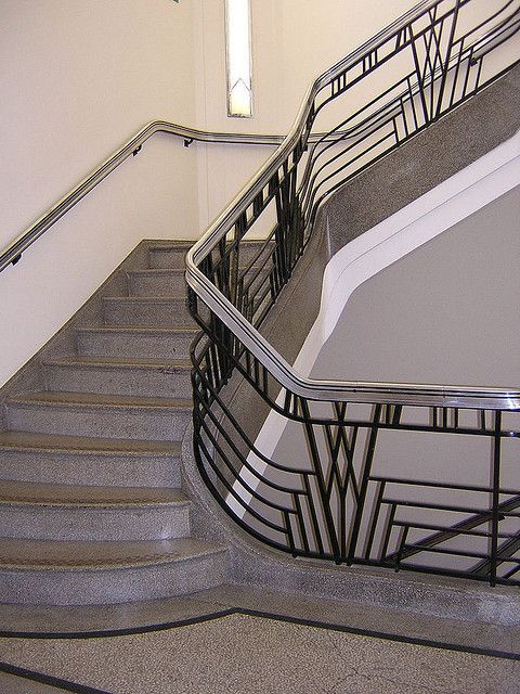 Bitchin' art deco staircase