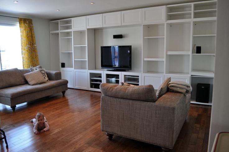 Livingroom - IKEA Besta built ins for TV Entertainment Center