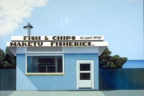 robin white, 'fish + chips,' 1975