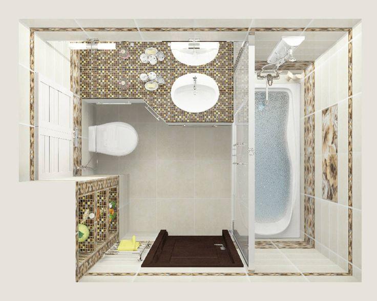 Трехкомнатная квартира : Ванная комната в эклектичном стиле от Design-Rules