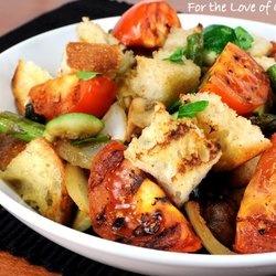 Grilled Vegetable Panzanella — Punchfork | Vegan Recipes | Pinterest