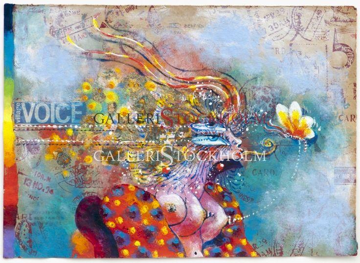 Ardy Strüwer - Litografi – New York village voice lady Beställ här! Klicka på bilden.