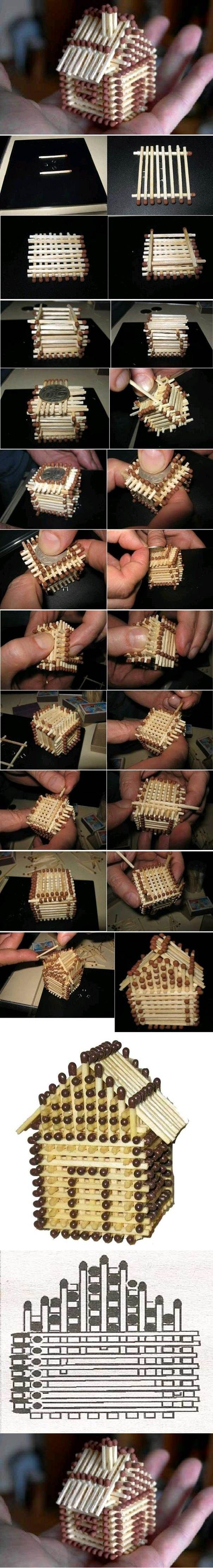 DIY Mini House with Matches   iCreativeIdeas.com Like Us on Facebook ==> https://www.facebook.com/icreativeideas