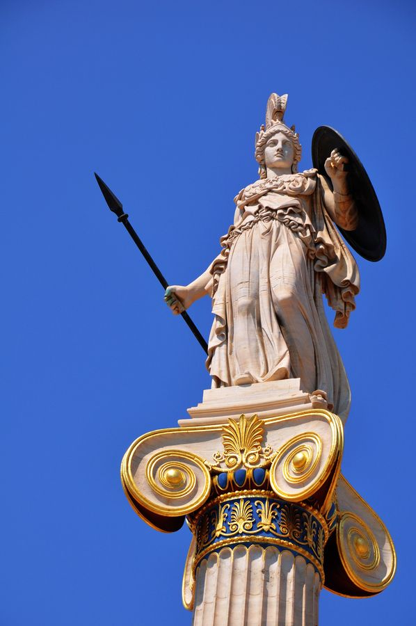Goddess Athina, Athens, Greece