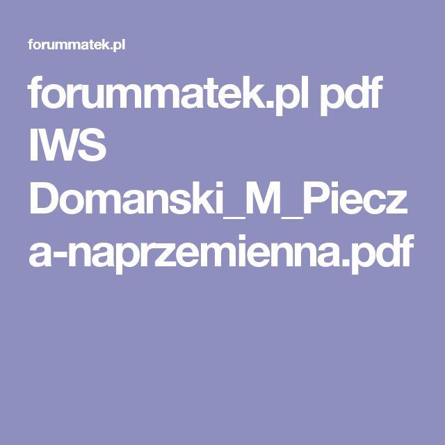 forummatek.pl pdf IWS Domanski_M_Piecza-naprzemienna.pdf