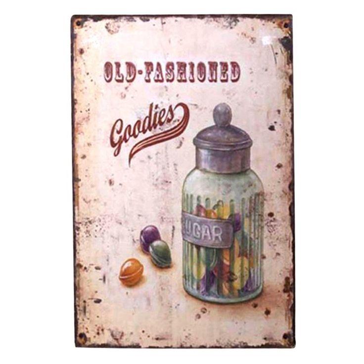obrazek metalowy, tabliczka Landrynki  #metal #plate #panel #picture #oldschool #vintage #candy