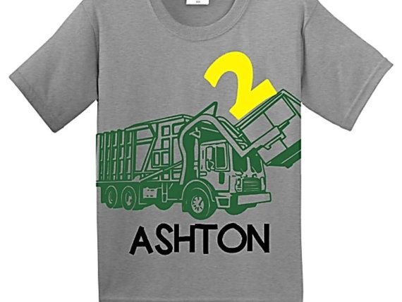 Hey, I found this really awesome Etsy listing at https://www.etsy.com/listing/218941631/trash-truck-birthday-shirt