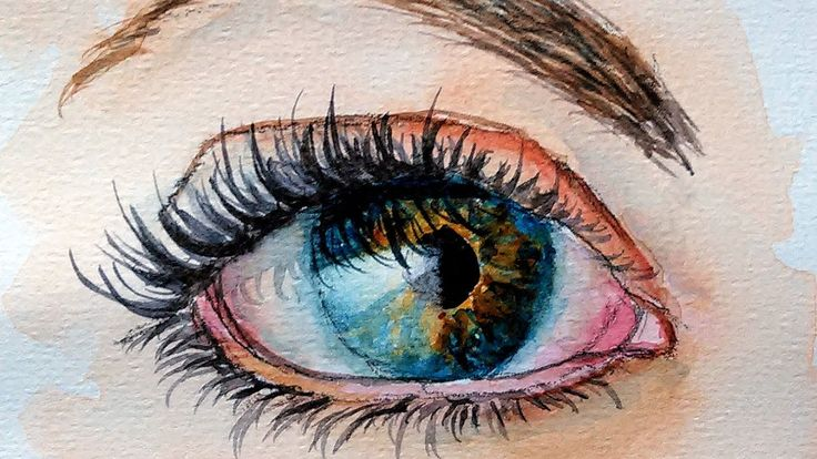 How To Paint a Realistic Eye in Watercolor step by step color mixing and painting tutorial. Paint colors: (I am using Winsor & Newton Professional watercolor...