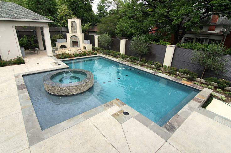 Modern Style Custom Inground Swimming Pool Spa And