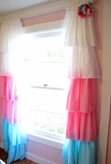 Diy curtains cute for a little girl39s room matches for Cute curtains for bedroom