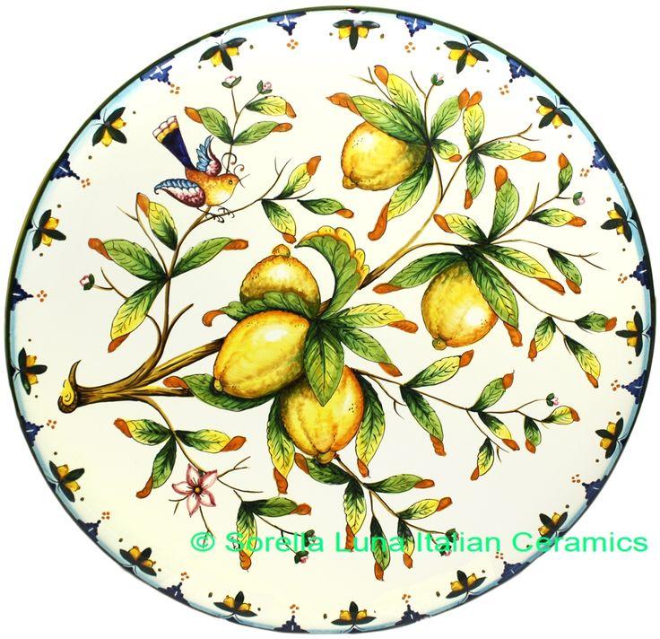 Italian Tuscany Amalfi Majolica Ceramic Plate   52cm