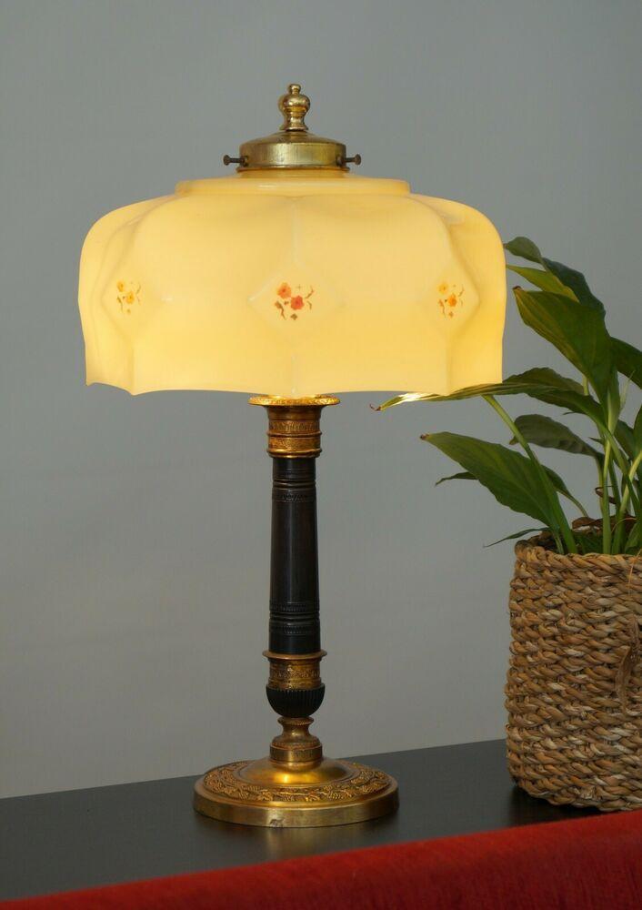 Wunderschone Berliner Jugendstil Kaffeehaus Messinglampe Tischlampe Um 1930 Jugendstil Lampen Tischlampen Lampe