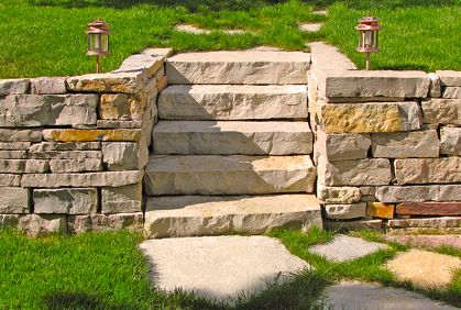21 best images about retaining wall ideas landscaping on for Block wall landscape design