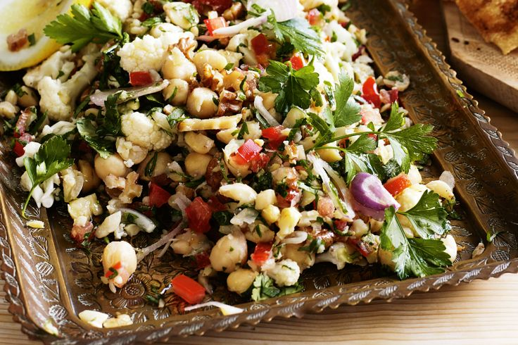 Chickpea Tabouli w/ Walnuts & Cauliflower