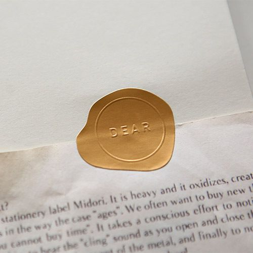 embossed seal sticker set