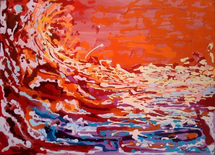 Viaggio XXI oil on Paper 60 x 90cm SOLD