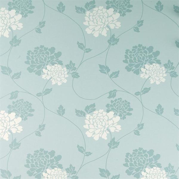 Is Duck Egg Blue Or Green: Laura Ashley Isodore Duck Egg White Floral Wallpaper
