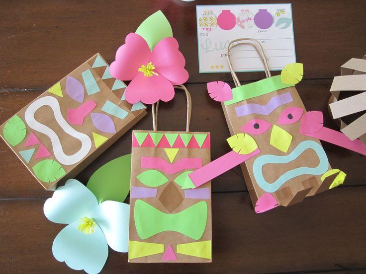 68 best images about luau on pinterest tiki totem luau for Bag decoration ideas