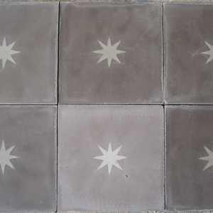 Star concrete tiling