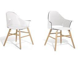 Krzeslo przezroczysto-biale - Krzeslo do jadalni, do salonu - krzeslo kubelkowe…