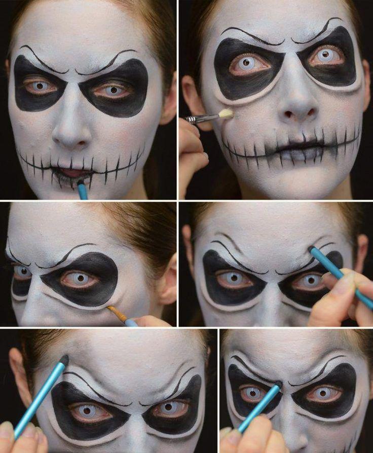 Jack skellington makeup tutorial halloweenmakeup