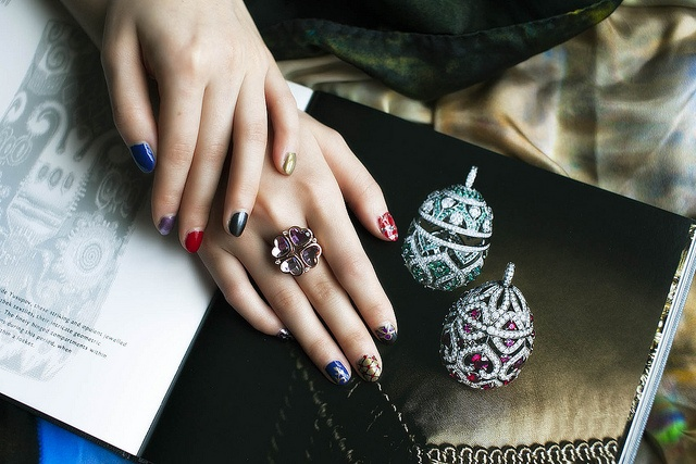 Faberge Egges Nail Art with Heart 4 Heart Ring! Love it!