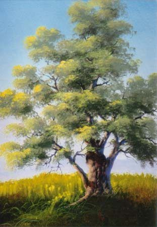 oil pastel painting of trees | oil pastel primer demonstration with a history of oil pastels and the ...