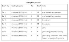 Image result for infant feeding chart ounces