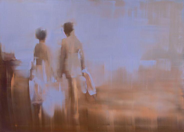 Sarjasta Kangastuksia vol 10, 2015 by Tiina Heiska. Oil on canvas, 130x180 cm. Inquiries: sari.seitovirta@seitsemanvirtaa.com / GALERIE SEITSEMÄN VIRTAA