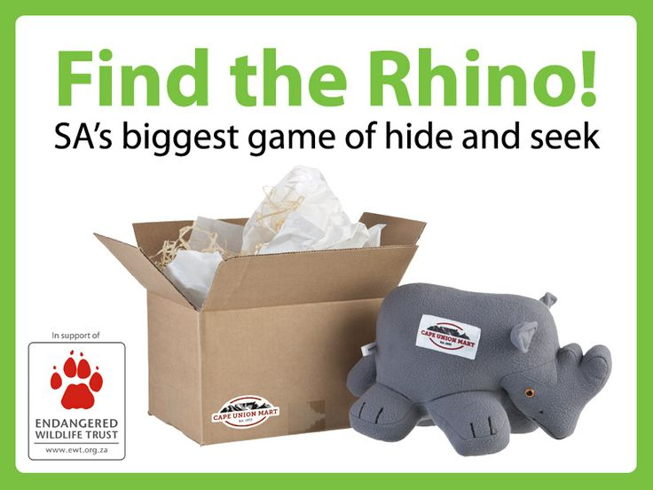 Cape Union Mart 'Find the Rhino' Competition together with Endangered Wildlife Trust!
