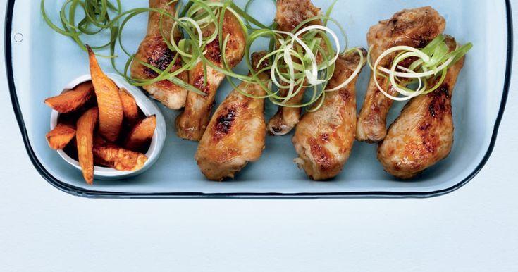 Découvrez cette recette de Pilons de poulet à l'ananas asiatiques pour 4 personnes, vous adorerez!