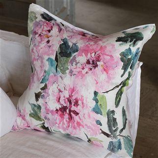 Shanghai Garden Peony Cushion | Designers Guild