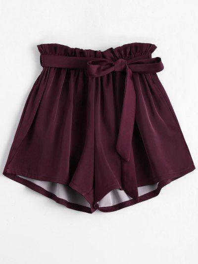 OBTÉN $50 AHORA   Únete a Zaful: Obtén tus $50 AHORA!http://es-m.zaful.com/smocked-belted-high-waisted-shorts-p_298399.html?seid=4617458zf298399