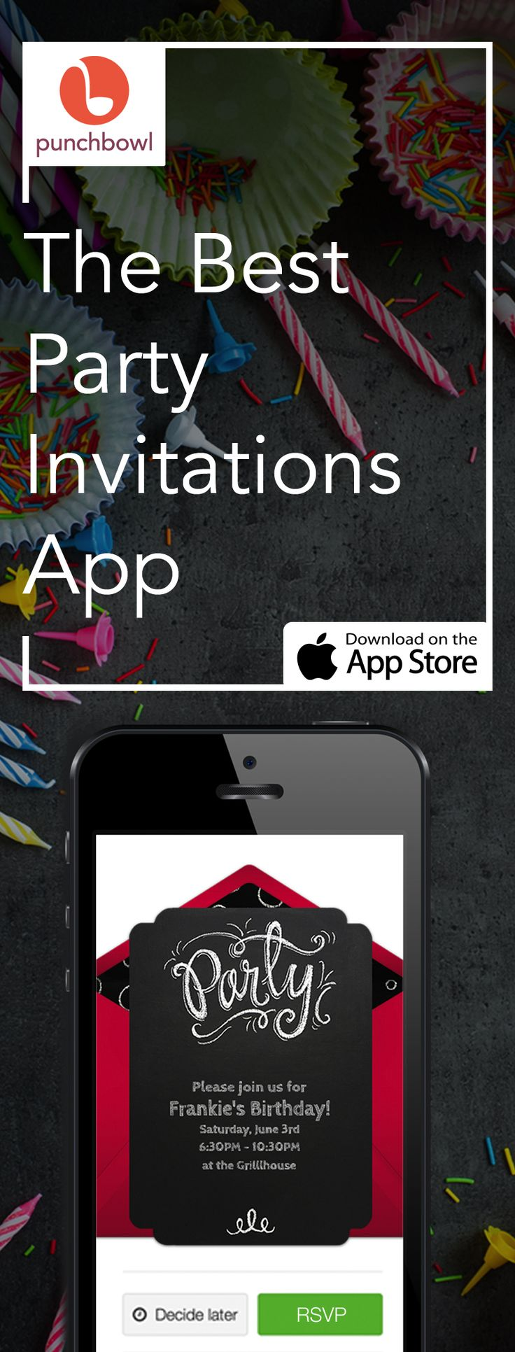 44 best Invitations images on Pinterest Invitations Birthdays and