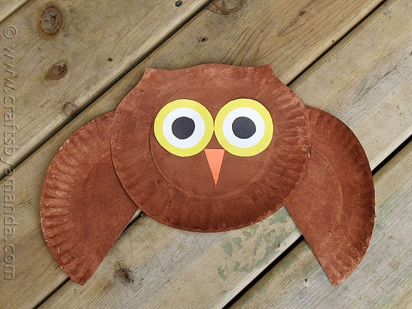 This owl paper plate craft project is so CUTE!