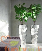 Office Plant Displays in Modern Metal Containers from Funky Yukka