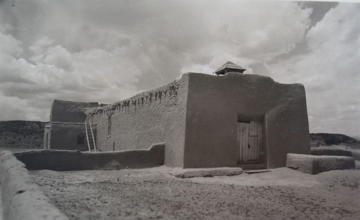 Laura Gilpin ORIGINAL Platinum Print PHOTOGRAPH Chapel Near Hernandez New Mexico