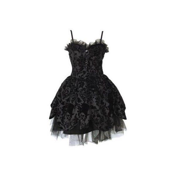 HELL BUNNY BLACK PETAL STEAMPUNK SKULL BROOCH GOTH PUNK PROM DRESS NEW... ❤ liked on Polyvore featuring dresses, short dress, mini dress, gothic prom dresses, goth prom dresses, mini prom dresses and prom dresses