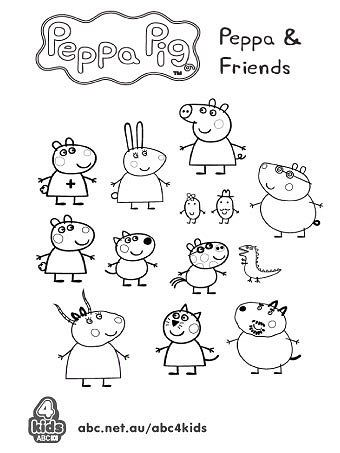 peppa pig friends coloring pages - peppa and friends colouring pages pinterest amigos