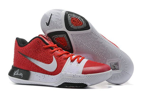 Cheap NIKE KYRIE 3 PE OHIO STATE University Red White Gradient Black ... c4cc883d8