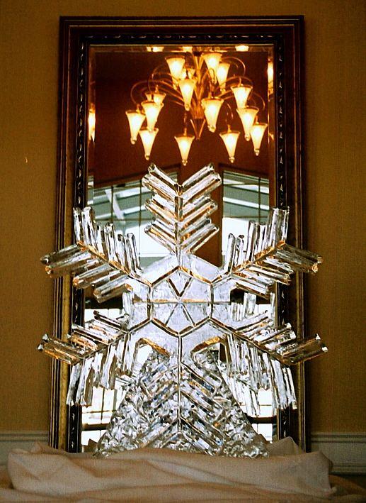 Snowflake - Ice Sculpture