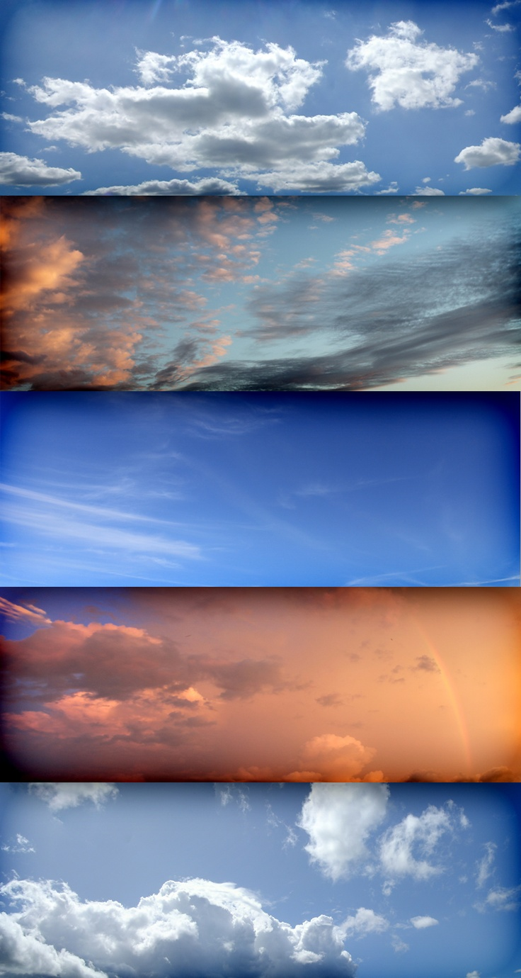5 free wide sky textures