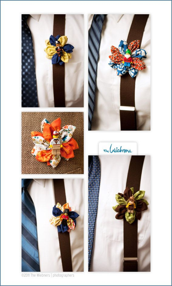 make sure to get shots of lego boutonnieres!