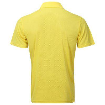 Turn Down Collar Men's Quick Dry Badminton Training T-Shirt #CLICK! #clothing, #shoes, #jewelry, #women, #men, #hats