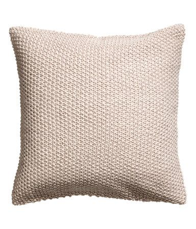 Moss-knit Cushion Cover | Light beige | H&M HOME | H&M US