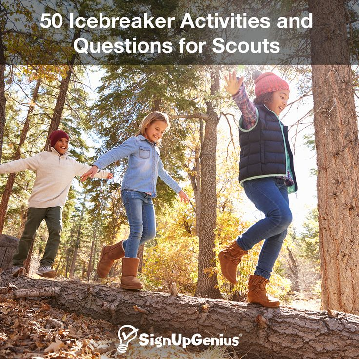 50 Icebreaker Activities and Questions for Scouts. Help troop and pack members get to know each other with team-building exercises and games.