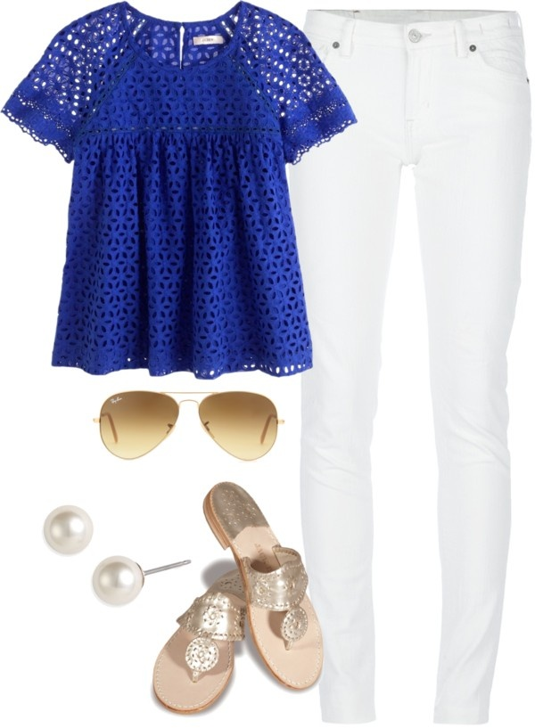 """Cobalt"" by classically-preppy ❤ liked on Polyvore"