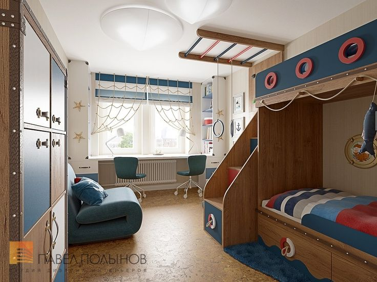 Фото: Детская комната - Трехкомнатная квартира в Пушкине в стиле легкой классики, 73 кв.м.