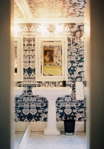 best 20+ powder rooms with chinoiserie inspired wallpaper ideas on